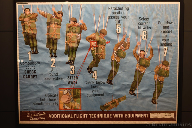Airborne Forces Parachute Training Poster (1983)