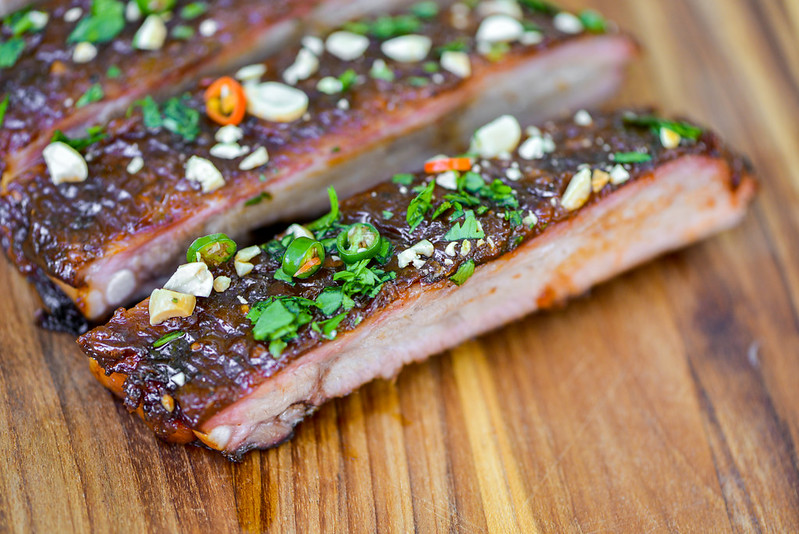 Thai Sticky Peanut Butter Ribs