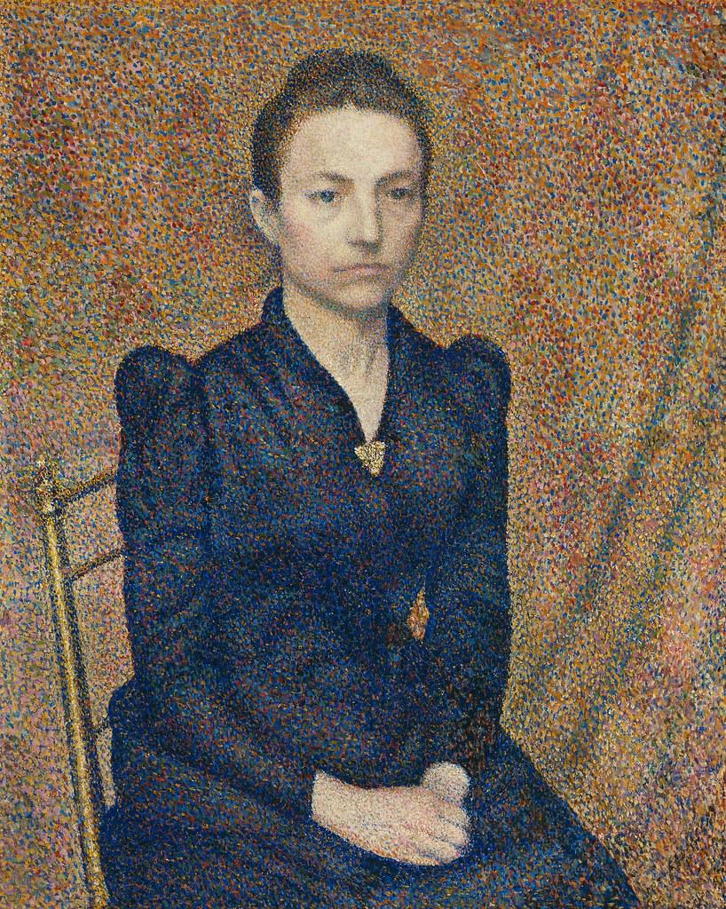 Georges Lemmen - Portrait of the Artist's Sister [1891]