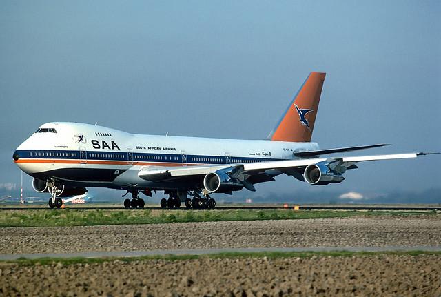 ZS-SAP B747-244B cn 20557 South African Airways 841102 Schiphol 1001