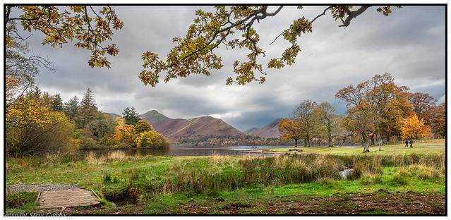 Autumn colour, Derwent Water, Cumbria.