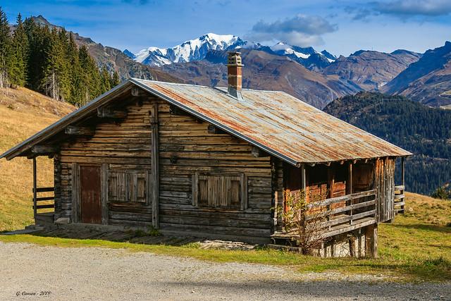 Là-haut sur la montagne, l'était un vieux chalet... Savoie 10/2018)