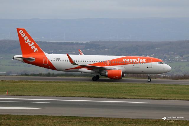 G-EZGY Airbus A.320-214, easyJet, Bristol Airport, Lulsgate Bottom, Somerset