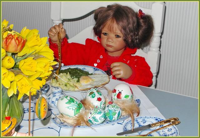💛🌼🍏🐔🍏🌼💛 Milina ... schon wieder Spinat 💛🌼🍏🐔🍏🌼💛