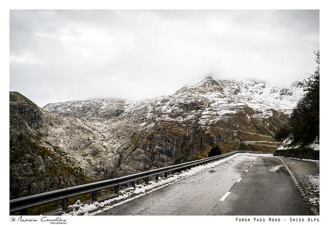 Furka Pass road - Swiss Alps - Autumn panorama - NZ6_3300