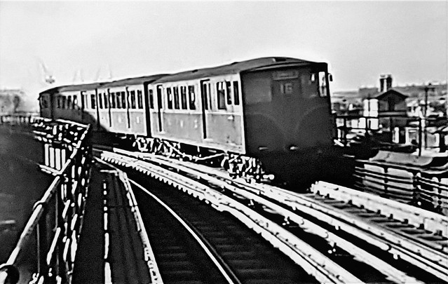 Train on the Liverpool Overhead Railway.