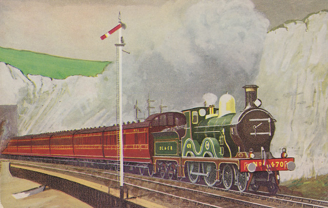 SECR train at Shakespeare Cliff