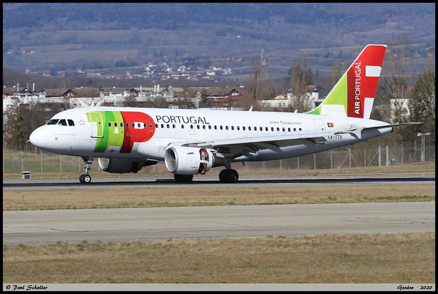 AIRBUS A319 112 TAP CS-TNV 1718 Genève février 2020