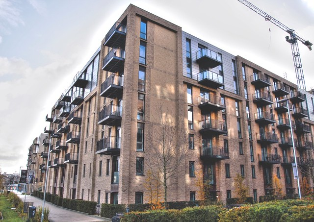 New builds at Adelphi Wharf in Salford, Manchester
