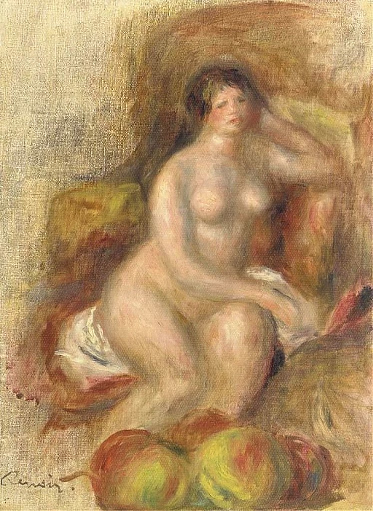 1908 Renoir Nude and apples(private collection)