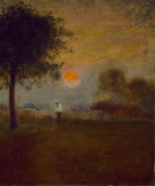 George Inness - Moonrise [1891]