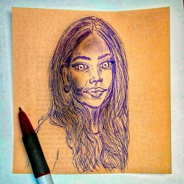 Miradas.   Pequeños dibujos a boli.   .   .   #portrait #drawing #art #draw #painting #portre #ballpen #blue #artist #dibujos #ballpen #sketch #flickr #artlovers #painter #boli  #artstagram  #portrait #bonsoir #goodnight  #bellezza #dibujos #dibujosaboli