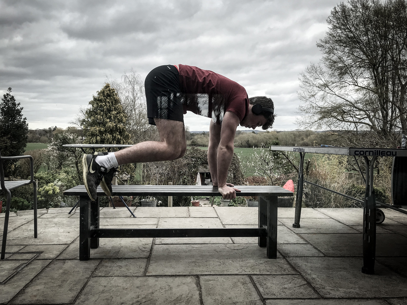 Outdoor lock down gym
