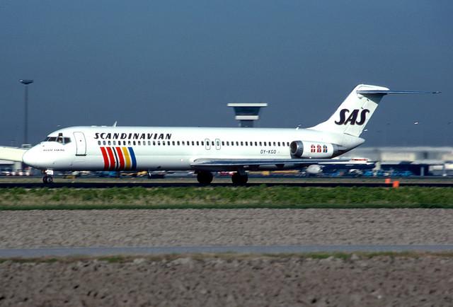 OY-KGO DC9-41 cn 47632 SAS 841102 Schiphol 1001