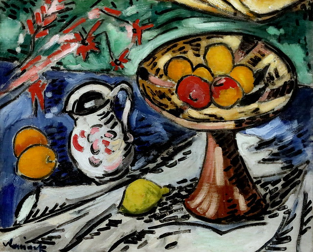 IMG_6561 Maurice de Vlaminck 1876-1958  Paris Nature morte avec bol de fruits Still life with fruit bowl  1906 Musée Wien Albertina
