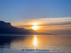 Vevey, tramonto sul Lemano