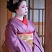Maiko Umehina avec la coiffure Sakkō