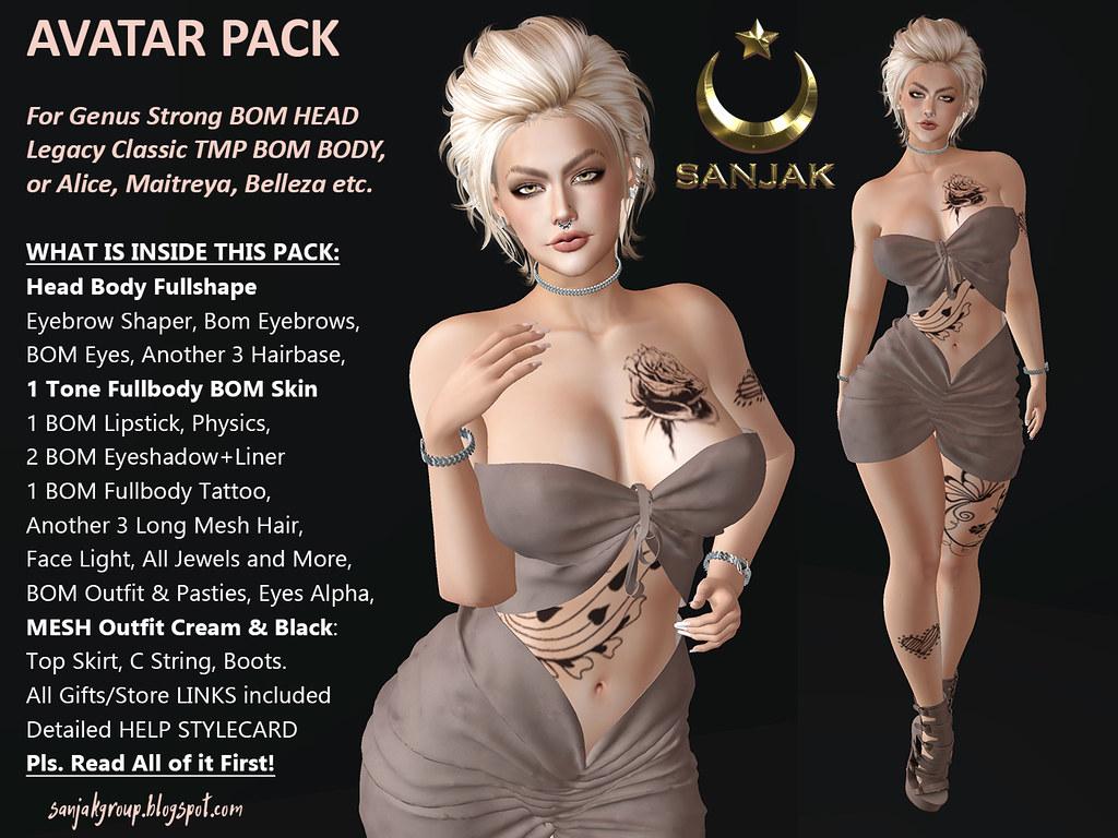 Avatar Pack For Genus Strong Head Legacy Maitreya Sanjak
