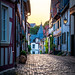 Streets of Idstein in Germany