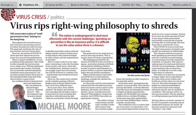 Virus rips  right-wing philosophy to shreds...
