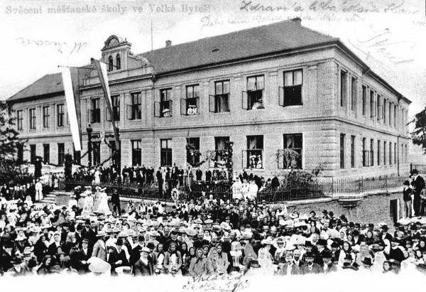 Velká Bíteš (ZR), čp. 115, Tišnovská (asi 1903)