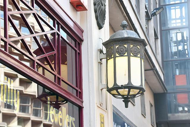 Old Lamp at New Street, Birmingham