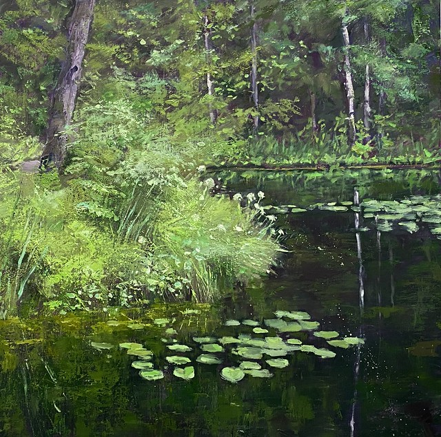 To The Lilies In The Water - Oil on Canvas - 76 x 76cm - SOLD