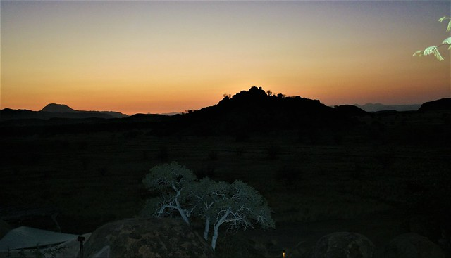 Namibia:  Camp Kipwe, Damaraland ... it is the evening of the day