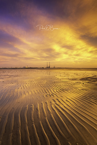 dawn sunrise poolbeg booterstown dublin beach offshoot