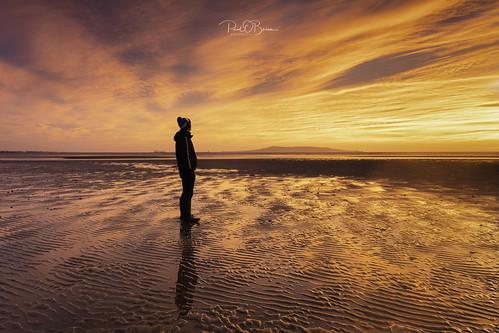 selfie sunrise beach booterstown dublin colour