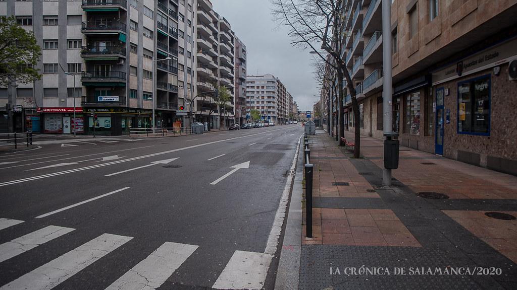 Salamanca durante el confinamiento, estado de alarma sanitaria, vacía.  (41)