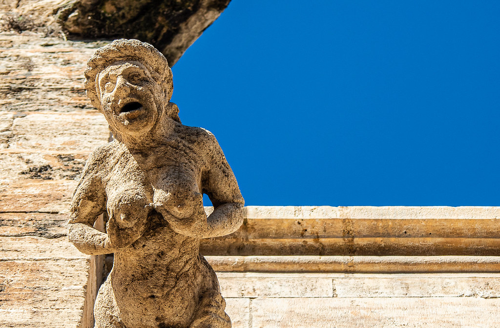Close Up - Stone Figure ( Rear of  Valencia Cathedral) (Olympus OM-D EM5.2 & M.Zuiko 12-100mm F4 Pro Zoom) (1 of 1)