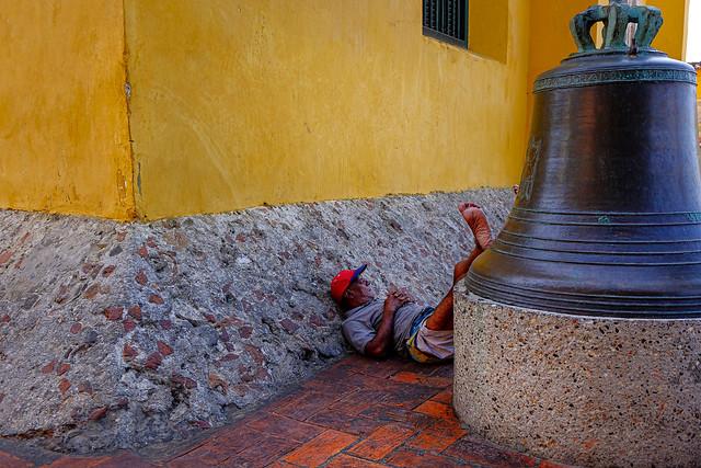 The sleeping man and his bell. @zulfikarzu