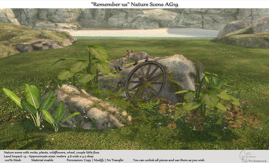 """.:Tm:.Creation """"Remember us"""" Nature Scene AG19"""