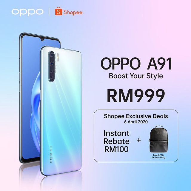 OPPO A91 Shopee Live Launch