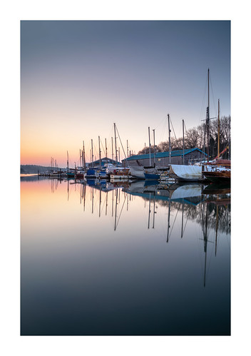 penryn river water cornwall england uk gb reflection calm still tranquil peace pastel muted desaturated dawn sunrise march staysafe boats yachts masts mirror cloudless clear sky