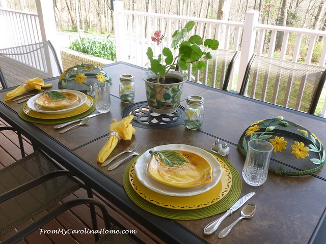 Spring Al Fresco Table at FromMyCarolinaHome.com