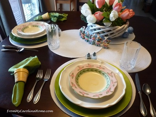 Easter Table for 2 at FromMyCarolinaHome.com