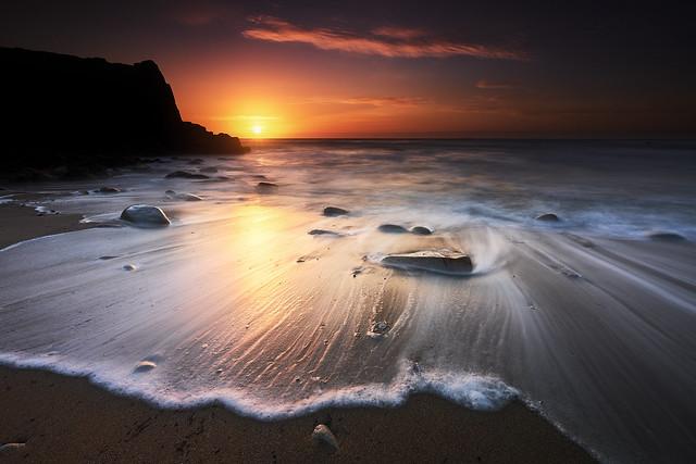 Sunset à Port Bara