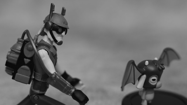 Exterminator chasing a Bat
