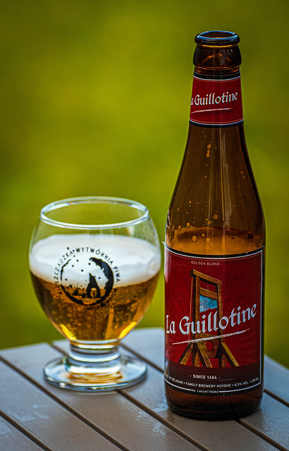 Bottle of La Guillotine a 8.5% Blond (Panasonic S1 & Lumix S 70-200mm f4 Zoom) (FB)