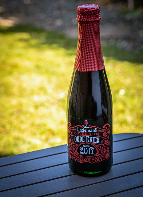 A Bottle of Linderman's Oude Kriek ( Fruit Beer) (Panasonic S1 & Lumix S 70-200mm F4 Zoom) (FB)