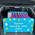 one delivery of easter eggs is loaded up and en route for delivery
