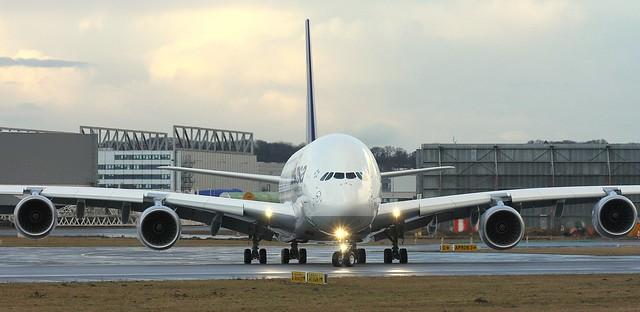Lufthansa, D-AIMM, MSN 175, Airbus A 380-841, 24.02.2015,  XFW-EDHI, Hamburg Finkenwerder (Named: Dehli)