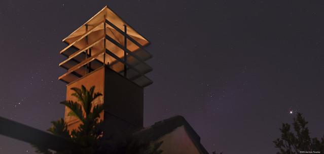 A view from home confinement: Venus, Pleyades , Hyades y Orión