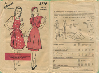 Advance 1944 3710 USDA apron