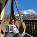 Když zrovna necvičí, užívá si Kristian Ghedina pohodlí své terasy v Cortině d'Ampezzo., foto: Kristian Ghedina, Facebook