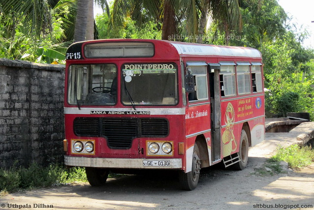 Ashok Leyland Comet Minor bus from SLTB Point Pedro depot