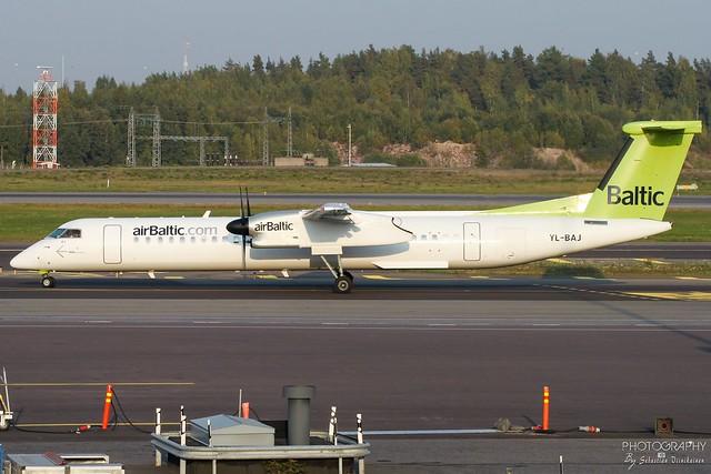 YL-BAJ Air Baltic Bombardier DHC-8-400, EFHK, Finland