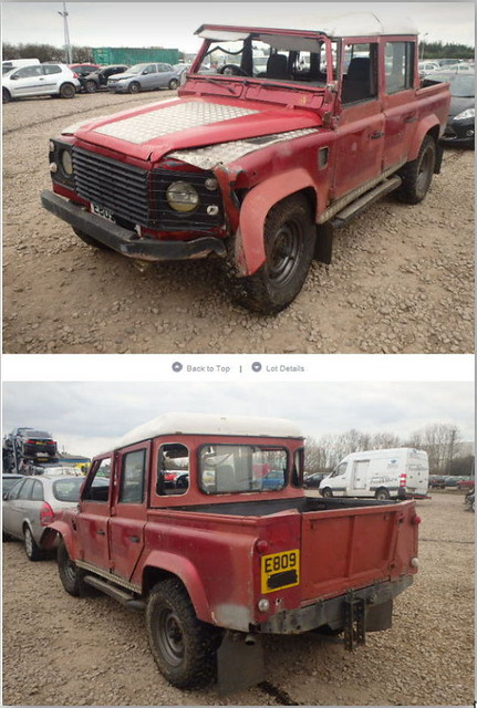 E809--- Land Rover 110 2.5D Crew Cab Pick-up